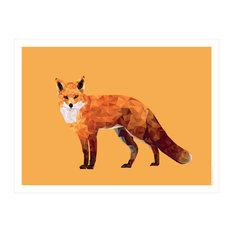 """Red Fox"" Paper Print, 40x50 cm"