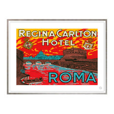 Contemporary Modern Transitional Fine Art,  REGINA CARLTON, ROME, Silver Leaf
