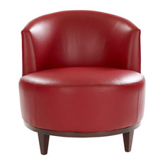 Macfee Armless Leather Chair Red