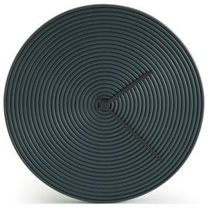 Atipico Ring Ceramic Wall Clock, Black Gray