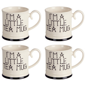 Fairmont and Main I'm a Little Tankard Mugs, Set of 4, Tea
