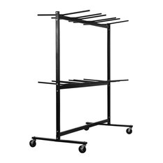Adiroffice Two Tier Folding Chair Cart, Up To 1000 Lbs Capacity