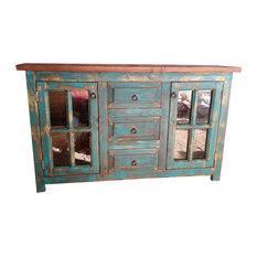 San Marcial Rustic Reclaimed Wood Bathroom Vanity 40-inchx20-inchx32-inch