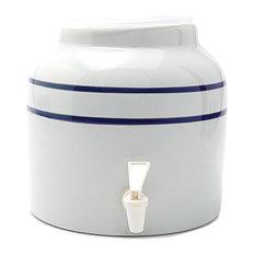 Goldwell Designs Double Stripes Water Dispenser Crock, Blue
