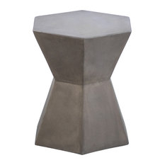 Hexagon Gray Cement Stool