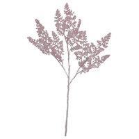 """33"""" Pink Glitter Fern Artificial Christmas Spray"""