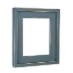 the rusty roof farmhouse slate blue picture frame solid wood 3x5 picture