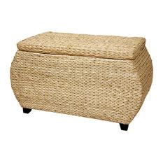 Rush Grass Storage Box, Natural