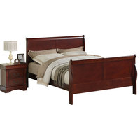 Standard Furniture Lewiston 5-Piece Panel Bedroom Set in Deep Brown