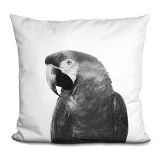 Parrot1 Bw Decorative Accent Throw Pillow