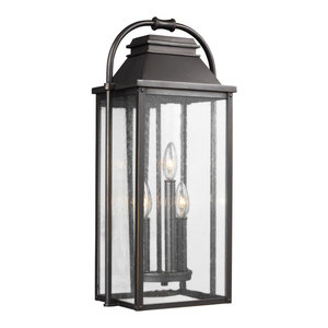 Wellsworth Antique Bronze 3-Light Outdoor Wall Lantern