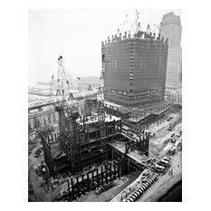 "World Trade Center Under Construction, June 27, 1969, 20""x24"""