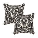 "Essence Black Beige 18.5"" Throw Pillow, Set of 2"