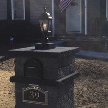 Cambridge Paver Mailbox Light Column - Dix Hills, NY 11746