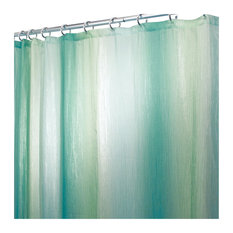 "iDesign Ombre Fabric Shower Curtain, 72""""x72"", Blue and Green"