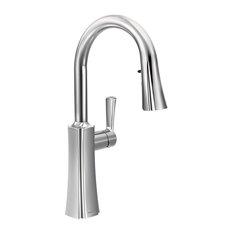 Moen Etch 1-Handle High Arc Pulldown Kitchen Faucet, Chrome