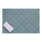 Seaside Arabesque Glass Mosaic Tile, Sample