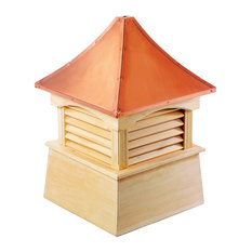 """Coventry Vinyl Cupola With Copper Roof, 18""""x24"""""""