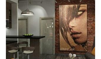 отделка стен 3D мозаикой