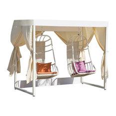 Fatsia Modern Outdoor Double Swing