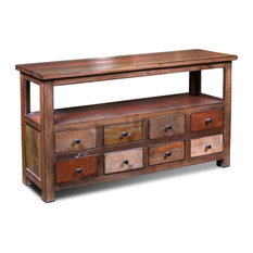 Crafters and Weavers - Bayshore Rustic Modern Style Console Table, Sofa Table, Media Console - Console Tables