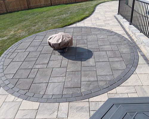 Save. Timber Tech Deck And Belgard Paver Patio Combination ...