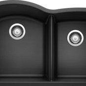 """Blanco 440177 20.8""""x32"""" Granite Double Undermount Kitchen Sink, Anthracite"""