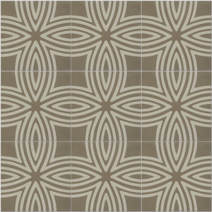 Wired Pattern Tiles, Warm Grey, Set of 12
