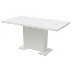 vidaXL Extendable Dining Table, White