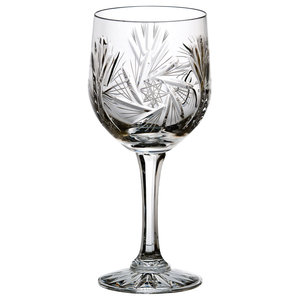 Monika Pinwheel Lead Crystal Red Wine Glasses, Small, Set of 6