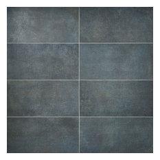 Thunderstruck Blue 11.69 in. x 23.50 in. Matte Porcelain Tile (11.62 sqft)
