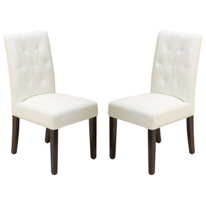 Gdf Studio Janelle Tufted Fabric Dining Chairs Set Of 2