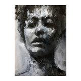 Peinture acrylique Portrait nb2  - François Cognet