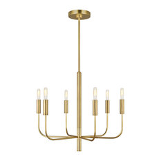 Brianna 6-Light Single Tier Chandelier, Burnished Brass
