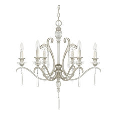 Capital Lighting 4786AS-000 Celine 6-Light Chandelier, Antique Silver