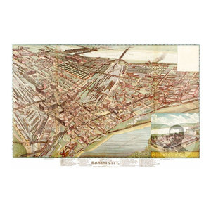 24x36 1890 Hunter New York Vintage Old Panoramic NY City Map