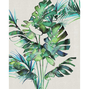 """Monstera Leaves"" Canvas Print by Summer Thornton, 40x50 cm"