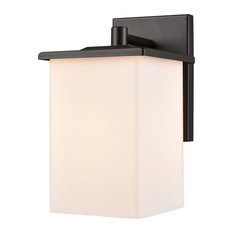 Broad Street 1 Light Outdoor Wall Light in Textured Black