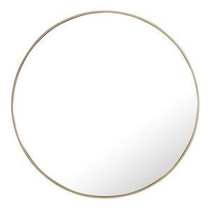 "Elegant Eternity Metal Frame Round Mirror 42"" Brass Finish"