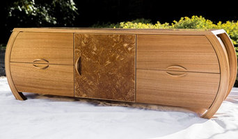 Custom Audio Cabinet in Japanese Tamo, Ash, English Chestnuty