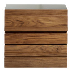 2-Drawer Contemporary Wood Nightstand With Power And USB Outlets 25-inchx23-inch