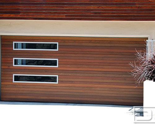 Bay Area Custom Ipe Modern Garage Door And Matching Steel