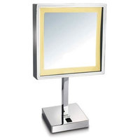 Freestanding 5X Magnified Mirror in Polished Chrome Finish