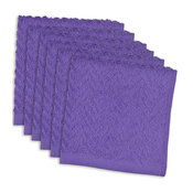 Zigzag Neon Dishcloth, Set of 6, Purple