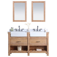 "Marina 60"" Bathroom Vanity, Driftwood Finish"