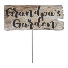 Lawn and Garden Stake Wood Plaque Grandpa's Garden