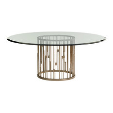"""Rendezvous Round Dining Table With 72"""" Glass Top"""