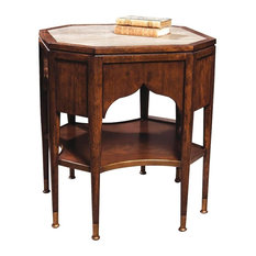 Port Eliot   Austrian Octagonal Side Table, European Mahogany   Side Tables  And End Tables