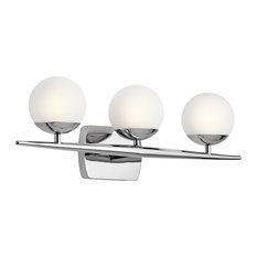 Kichler 45582 Jasper 3 Light Bathroom Vanity Light - Chrome