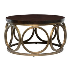 "Gemma 32"" Round Mango Wood Coffee Table by Kosas Home"